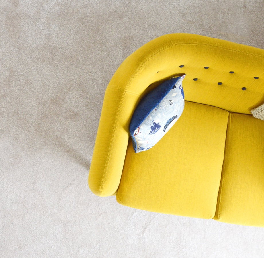 Minimal Yellow Sofa