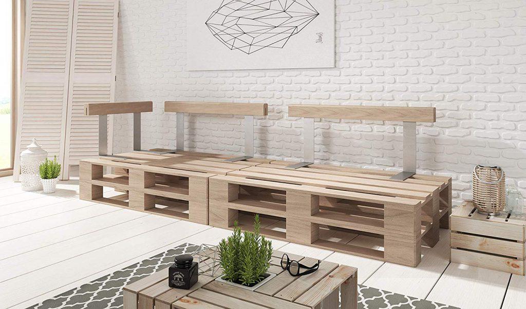 Paletten Möbel Rückenlehne bauen